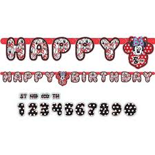 LETTERBANNER MINNIE MOUSE