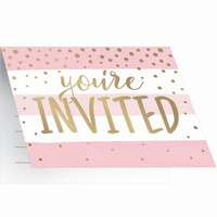 INVITATIONS ROSE / GOUD