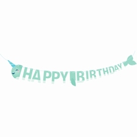 RIBBON BANNER HAPPY B-DAY NARWHWL
